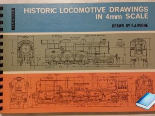 Historic Locomotive Drawings in 4mm Scale by Francis J.Roche Pub: Littlehampton Book Services, 1971 perfetto